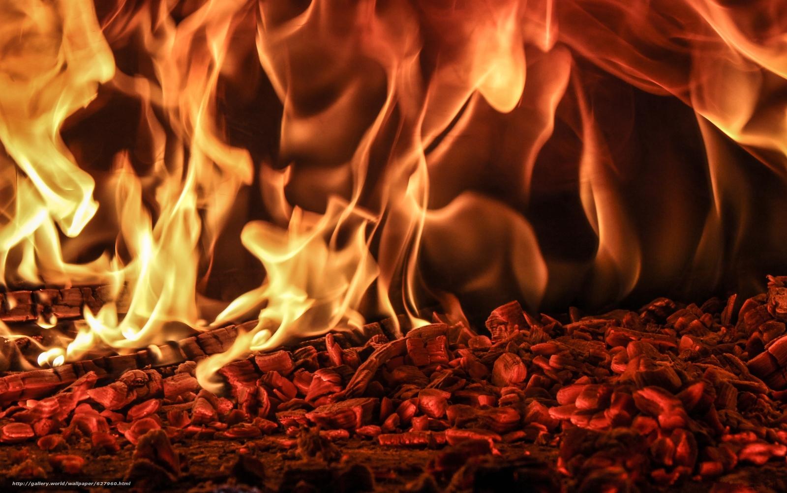 Скачать на телефон обои фото картинку на тему костёр, угли, пламя, огонь, разширение 3775x2366