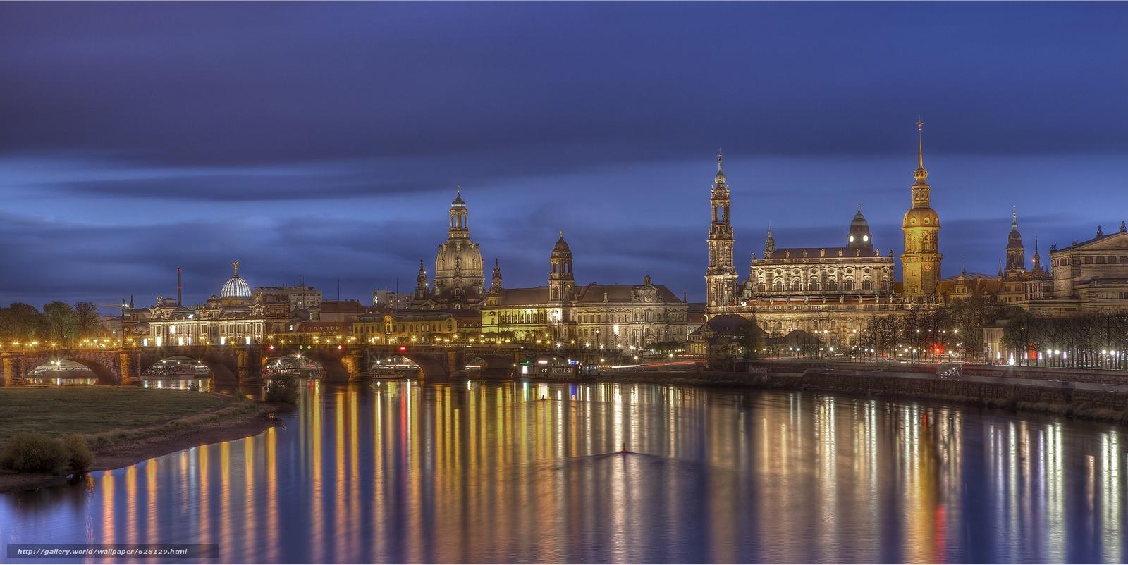 Скачать на телефон обои фото картинку на тему Дрезден, Германия, река Эльба, разширение 3543x1775