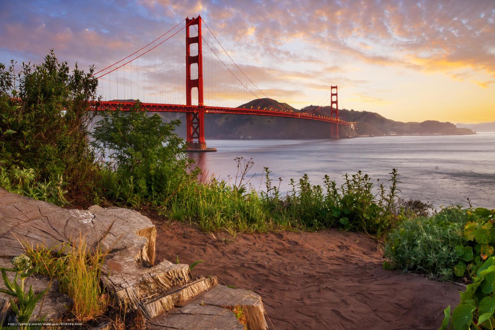 Скачать на телефон обои фото картинку на тему Мост Золотые Ворота, пролив Золотые Ворота, Сан-Франциско, разширение 7348x4899