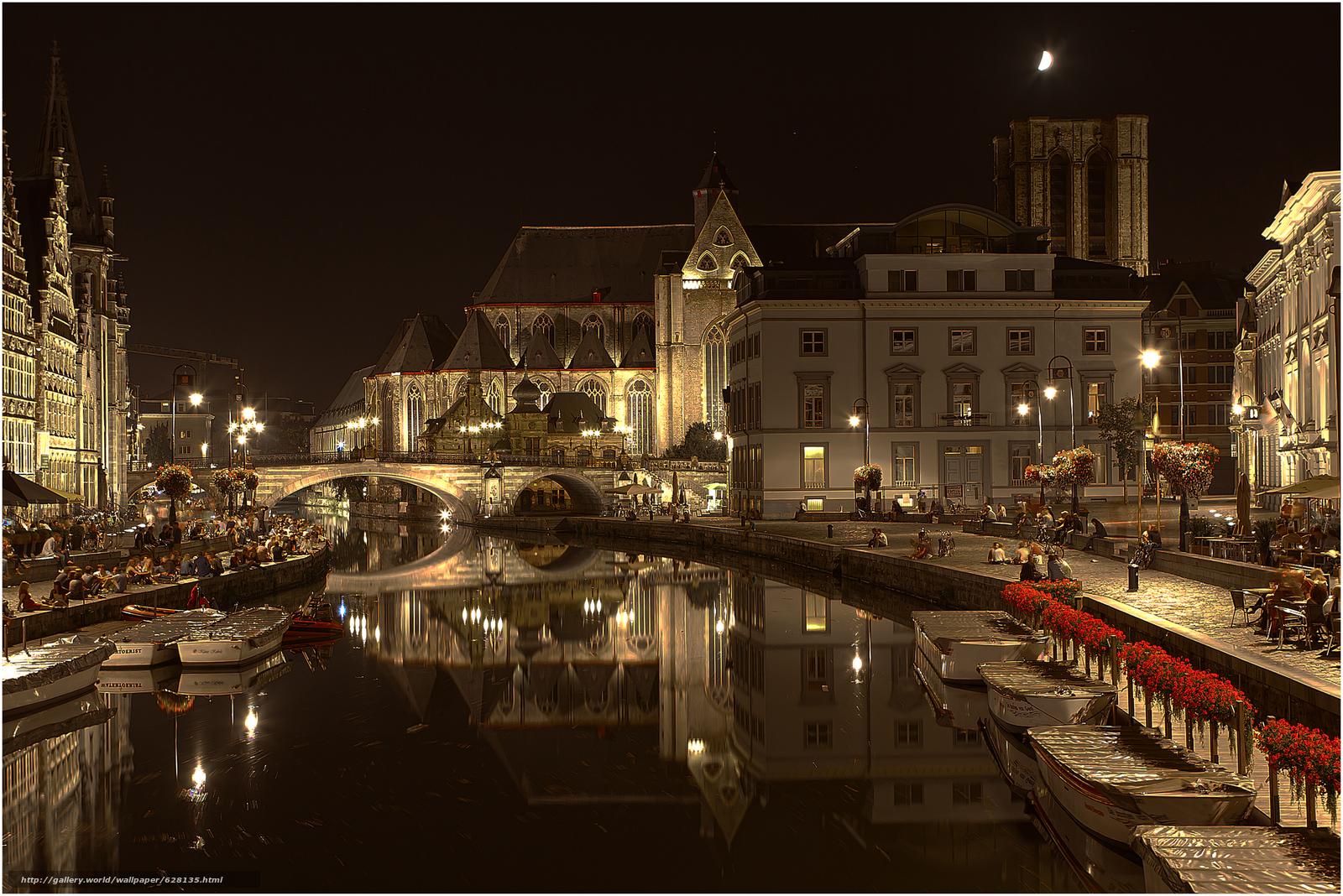 Скачать на телефон обои фото картинку на тему Гент, Gent, город во Фландрии, в Бельгии, Belgium, разширение 3555x2374