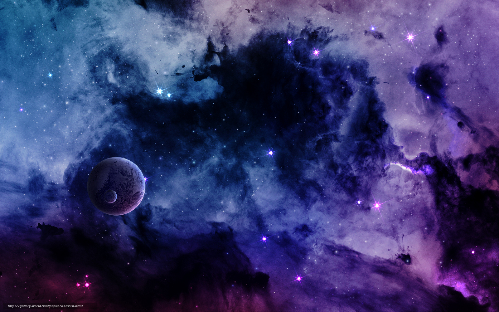 Скачать на телефон обои фото картинку на тему космос, 3d, art, разширение 1920x1200