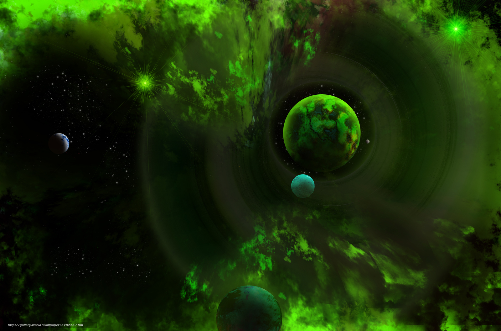 Скачать на телефон обои фото картинку на тему космос, 3d, art, разширение 5000x3300