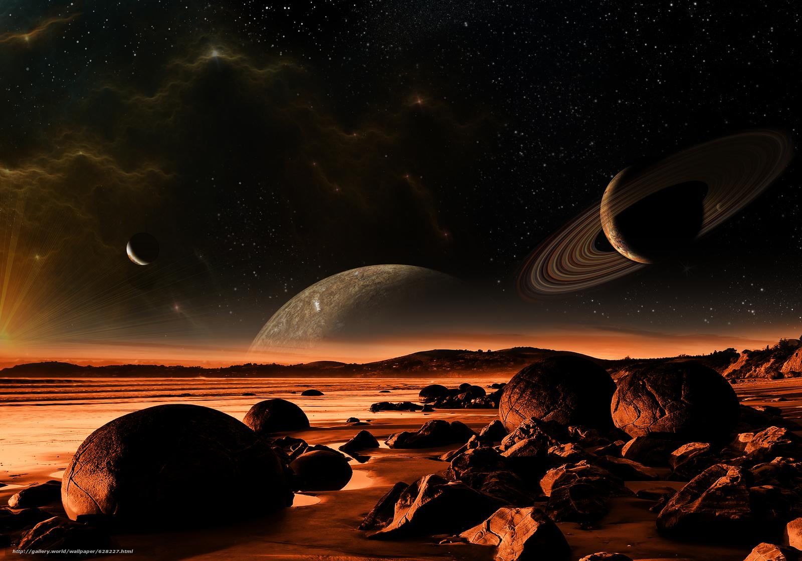 Скачать на телефон обои фото картинку на тему космос, 3d, art, разширение 5000x3500