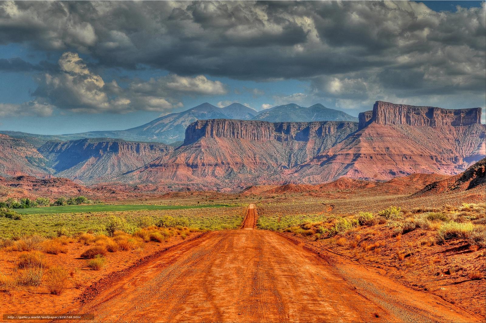 estrada, Utah, Rochas, paisagem, Montanhas