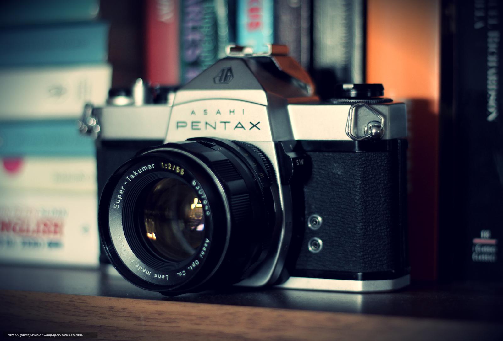Обои фотоаппарат, pentax, camera, камера, объектив, old