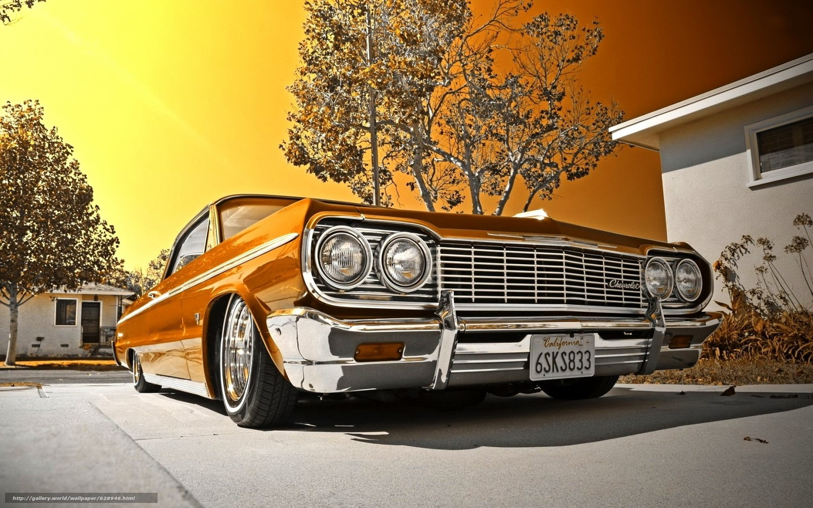 Обои 1964, Chevrolet, Impala, Convertible, Lowrider, шевроле, импала
