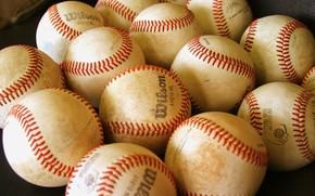 мячи, бейсбол