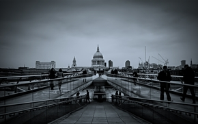 city, building, roadway, road, people, architectural, Monuments, photo, background, wallpaper. black and white