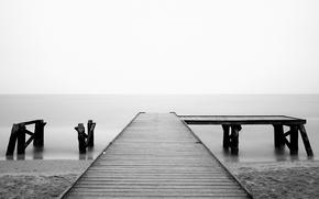 landscapes, romance, wallpaper, piers, wharf, coast, water, ocean, sea, mood