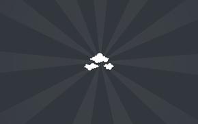 minimalismo, nuvole, carta da parati, sfondo