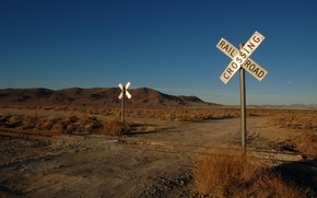 paesaggi, ferrovia, spostare, Rails, segni