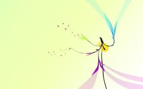 минимализм, дизайн, птица