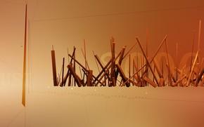 Sticks, line