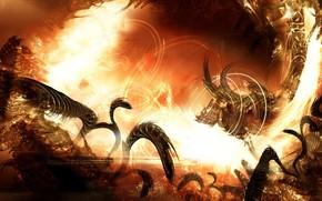 fire, hell, monster
