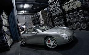 Porsche, warehouse, Isover