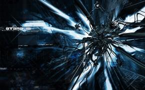 Techno, monster, dark