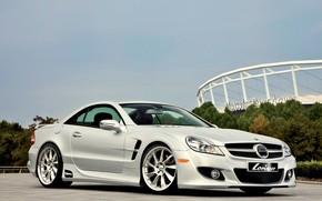Mercedes, tuning, white