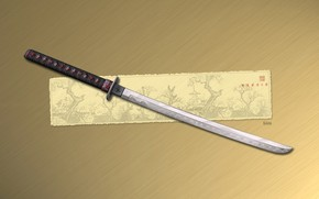 меч, катана, рисунок