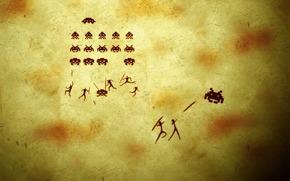 jogo, fundo, besouros, pessoas, lanas, humor, engraado, Tiroteio