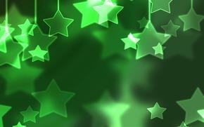 новый год, новогодние обои, шары, рождество, рождественские обои, снег, зима, настроение, праздники, праздничные обои, звёзды, зелёный