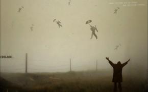 perda, vo, significado, delrio, liberdade, nevoeiro, guarda-chuva