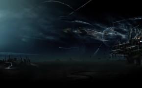 attaccare, base, pianeta