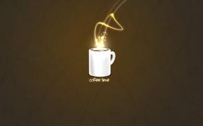 cup, coffee, minimalism