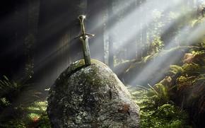 эскалибур, меч, свет