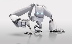 robot, Color blanco