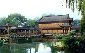 China, landscape, pagoda