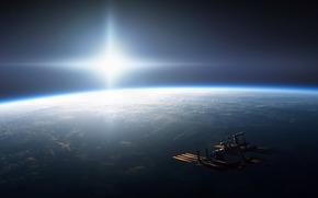 enviar, Espacio, planeta, sol