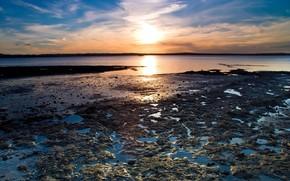 солнце, берег, вода