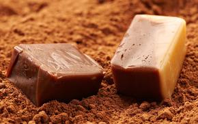 конфеты, карамель, сладко, какао, кубики, еда, ням, отсутствие, пломб, зубов)