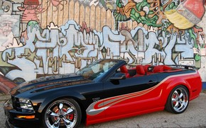 Ford, mustang, graffiti