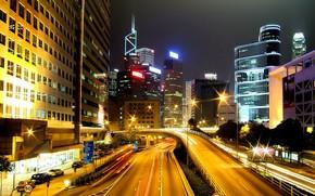 Lmpada, movimento, noite, cidade