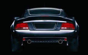 Aston Martin, rear, black, von