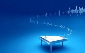 blu, pianoforte, musica