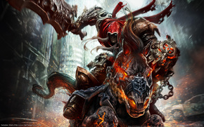 demon, sword, rider, horse
