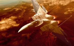 самолет, истребитель, полет