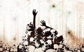 черепа, руки, смерть
