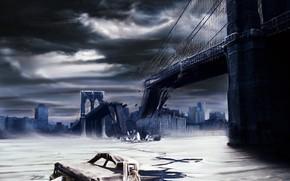 橋, カー, 難破船