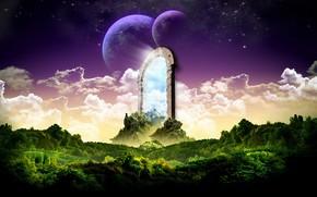 portal, Planeta, las nubes