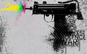 оружие, вектор, цвет