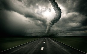 tornado, road