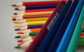 цветные, карандаши, штрих-код