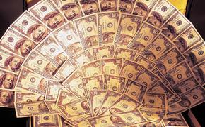 чемодан, деньги, много, валюта