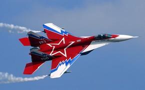 миг, самолет, красный, звезда