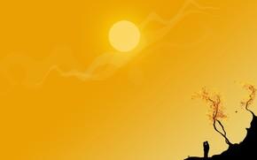 yellow, vector, sun, couple