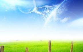 tratamiento, valla, planeta