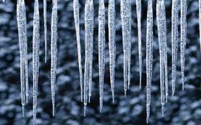 hiver, Glaons, gouttes